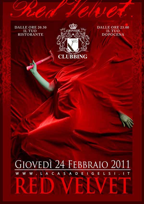 Red Velvet - Velluto Rosso - serata a tema con cen