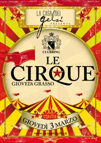Giovedì grasso serata a tema le cirque a Bassano