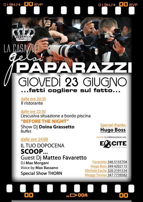 Eccezionale Serata a tema Paparazzi ristorante e discoteca OX02