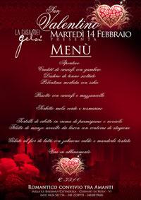 Menu della Cena di San Valentino Bassano