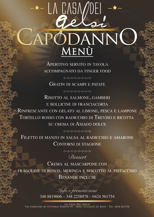 capodanno 2013 menu