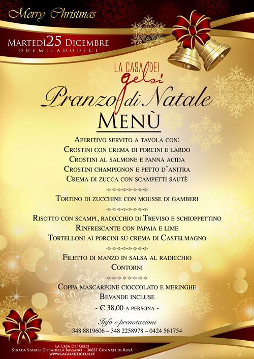Menu Di Natale A Casa.Pranzo Di Natale 2012 Bassano Del Grappa Vicenza
