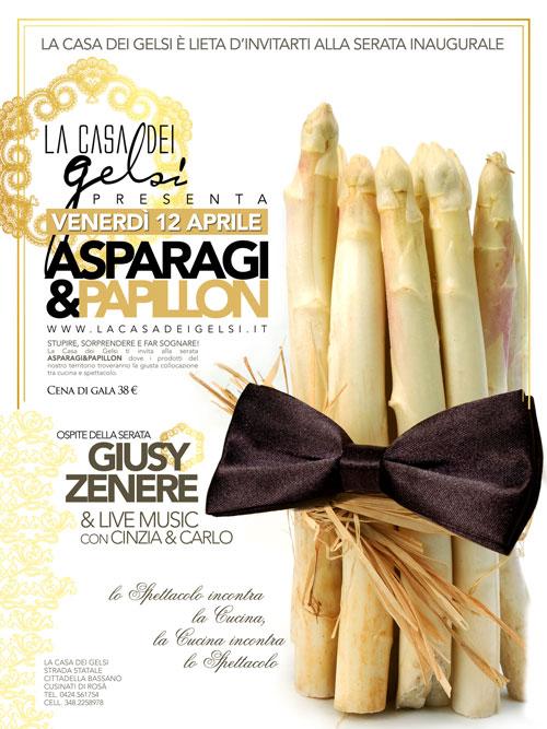 Ristorante per cena Asparagi e Vespaiolo