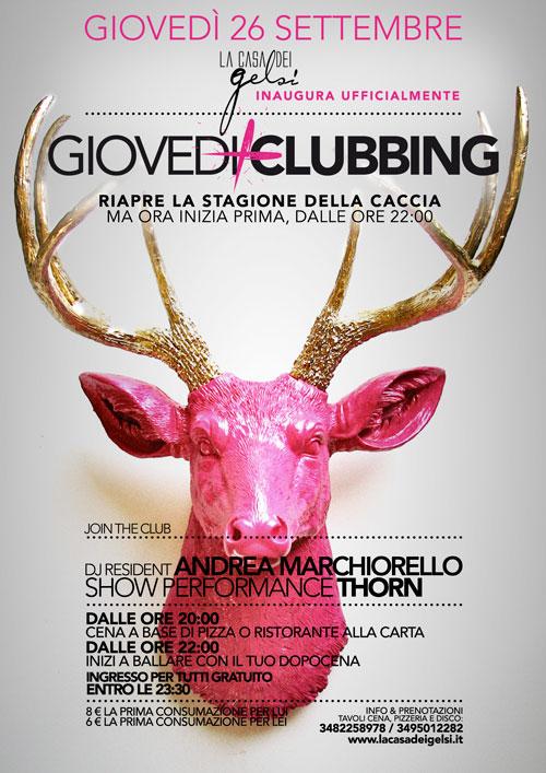 Giovedì Clubbing autunno 2013