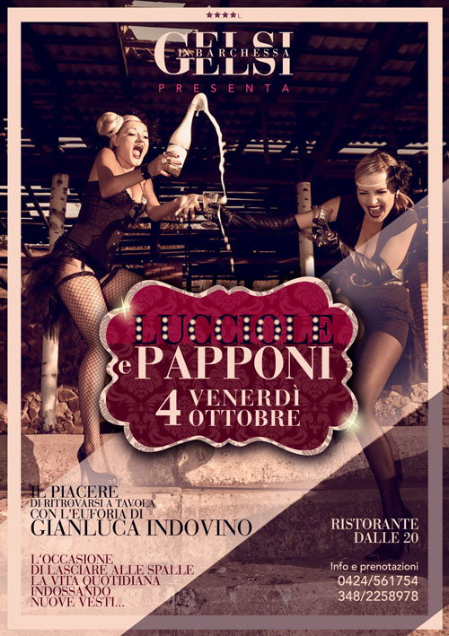 Festa a tema Lucciole e Papponi a Bassano