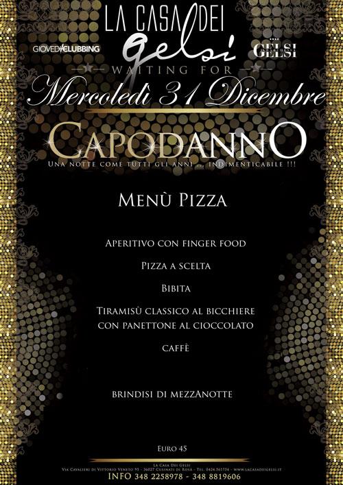 Menu Cenone Pizza Capodanno 2015