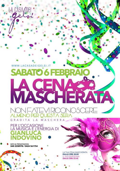 Cena mascherata Carnevale Casa dei Gelsi 6 febbrai