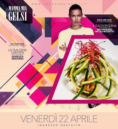 cena cantata gelsi 22 aprile 2016