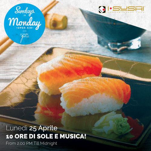 Sushi al sundays is monday 25 aprile 2016