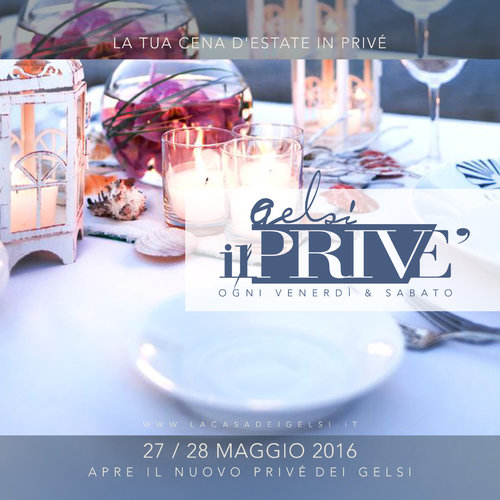 cena in prive gelsi 27 28 maggio 2016