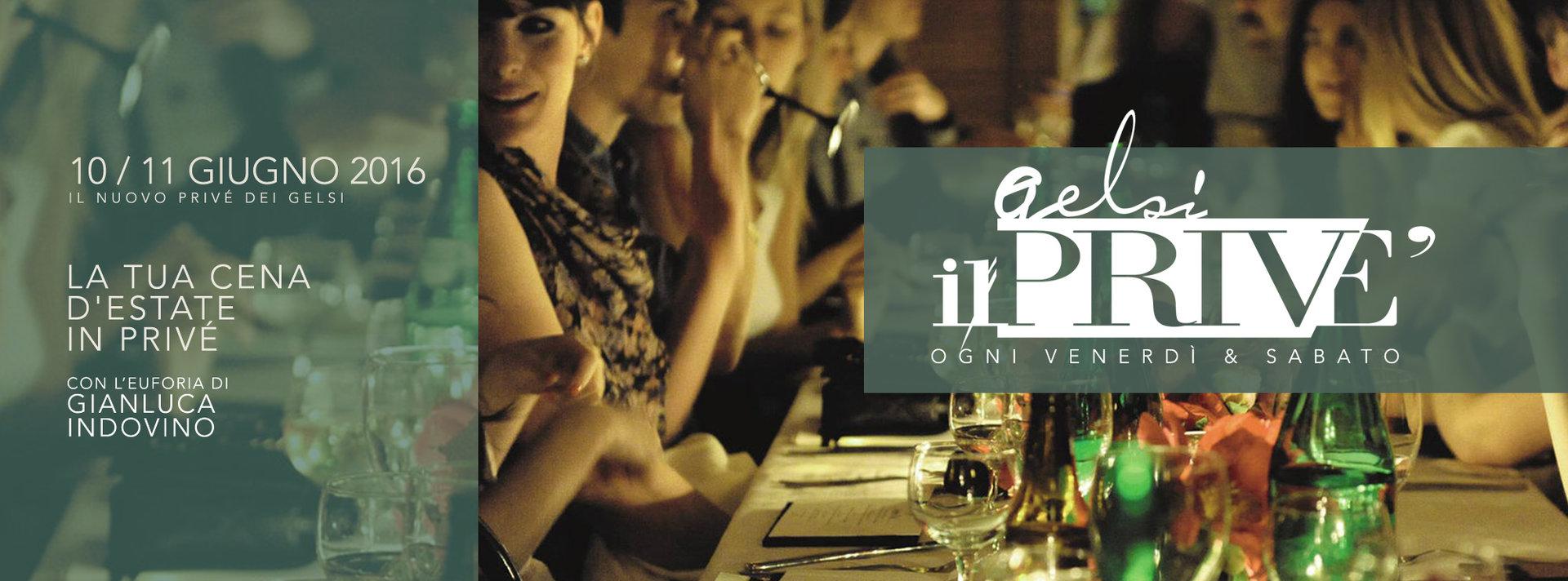 cena in prive ai gelsi 10 e 11 giugno 2016