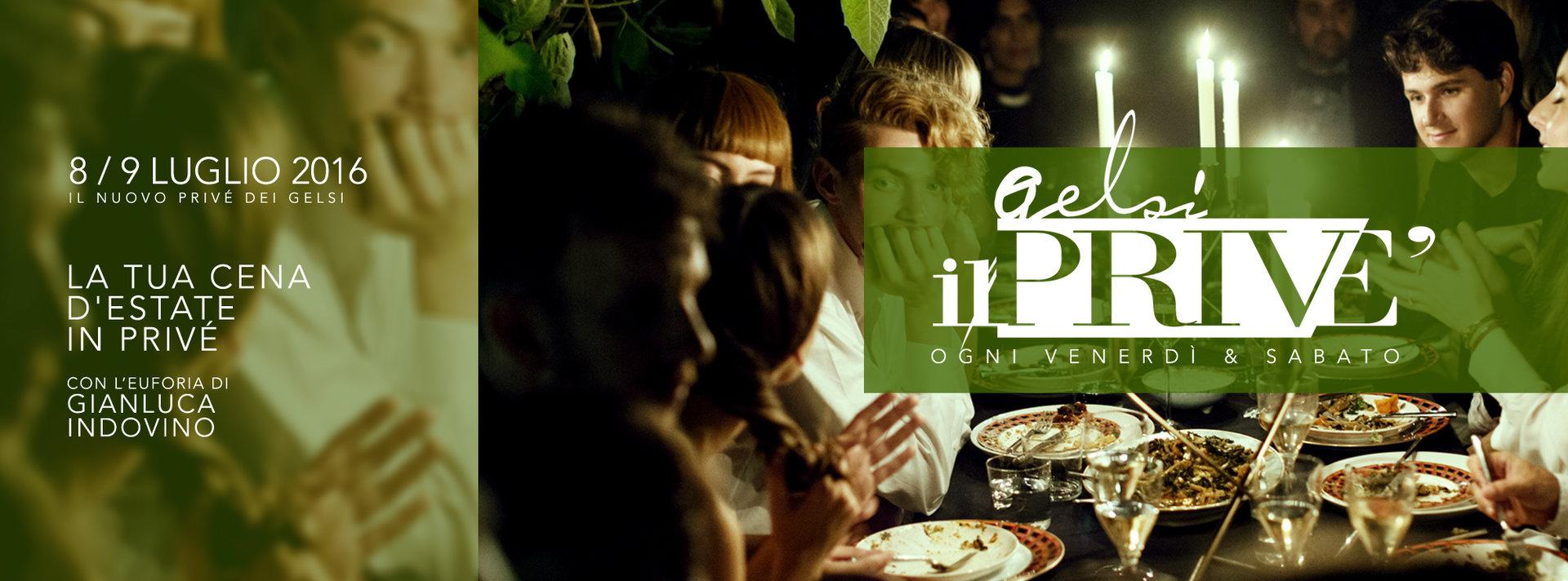 cena alla aperto al prive dei gelsi 8 e 9 luglio 2