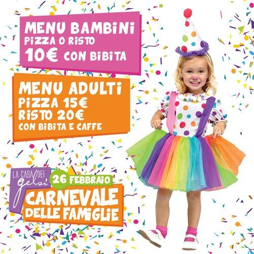 Carnevale delle famiglie - i menu - 26 febbraio 20