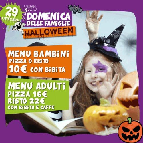 Domenica delle famiglie - Menu di Halloween ai Gel