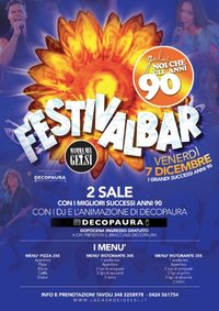 Festa anni 90 Festivalbar ai Gelsi con Decopaura -