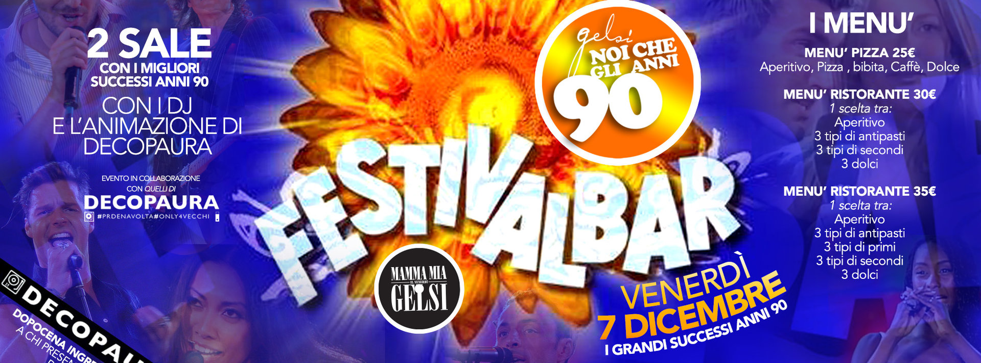 Festivalbar Gelsi - Festa anni 90 con Decopaura -
