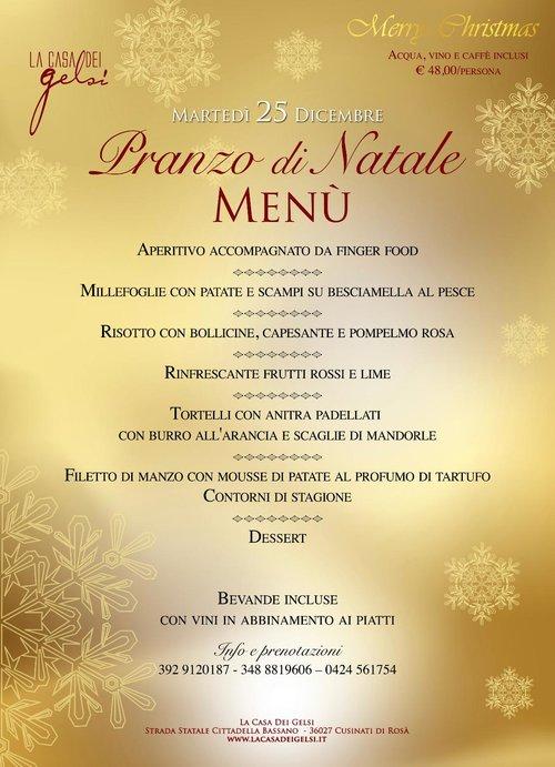 Menu Di Natale A Casa.Pranzo Di Natale 2018 Alla Casa Dei Gelsi Vicino A Bassano