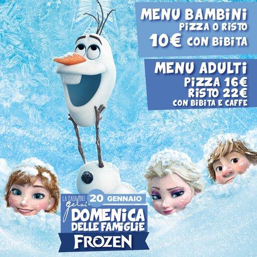 Frozen - Domenica delle famiglie menu