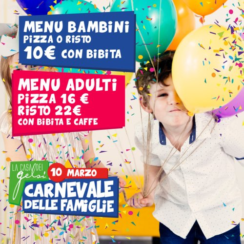 Carnevale per bambini ai Gelsi - 10 marzo