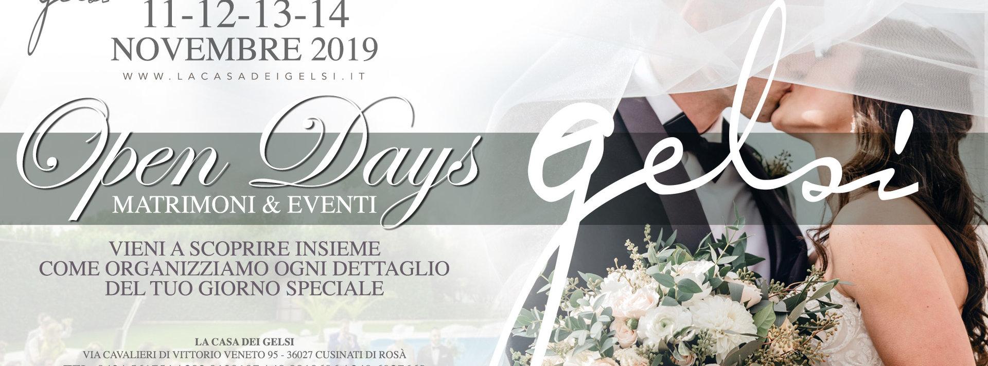 Open day matrimoni alla Casa dei Gelsi