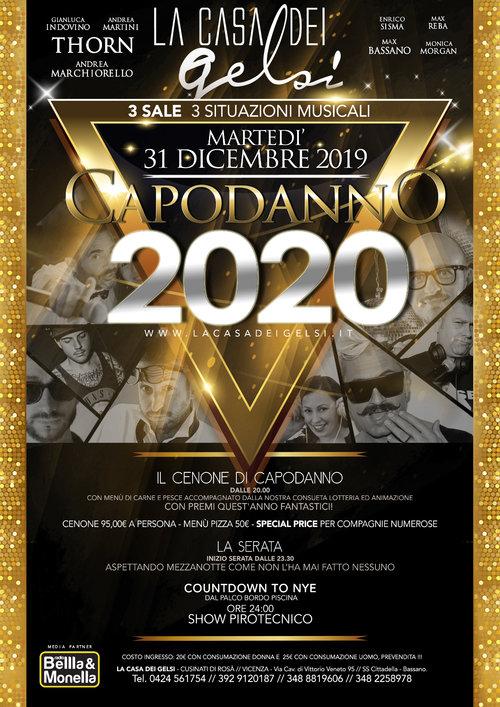 Festa di capodanno 2020 Gelsi - Bassano Vicenza