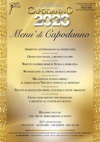 Menu cenone ultimo dell'anno 2019 Gelsi - Bassano