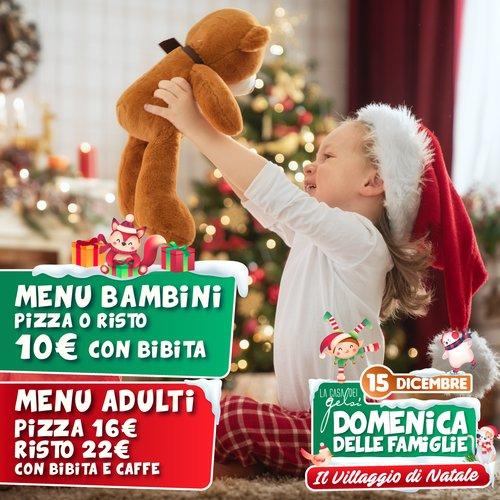 Menu domenica famiglie Natale Gelsi