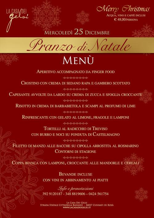 Menu Pranzo Di Natale In Casa.Pranzo Di Natale 2019 Alla Casa Dei Gelsi Vicino A Bassano Del Grappa Vicenza 25 Dicembre 2019