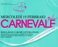 Cena beneficenza Carnevale Gelsi