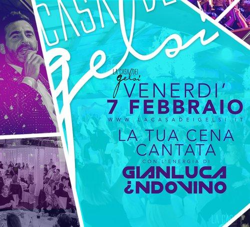 Cena cantata Gelsi con Gianluca Indovino 7 febbrai