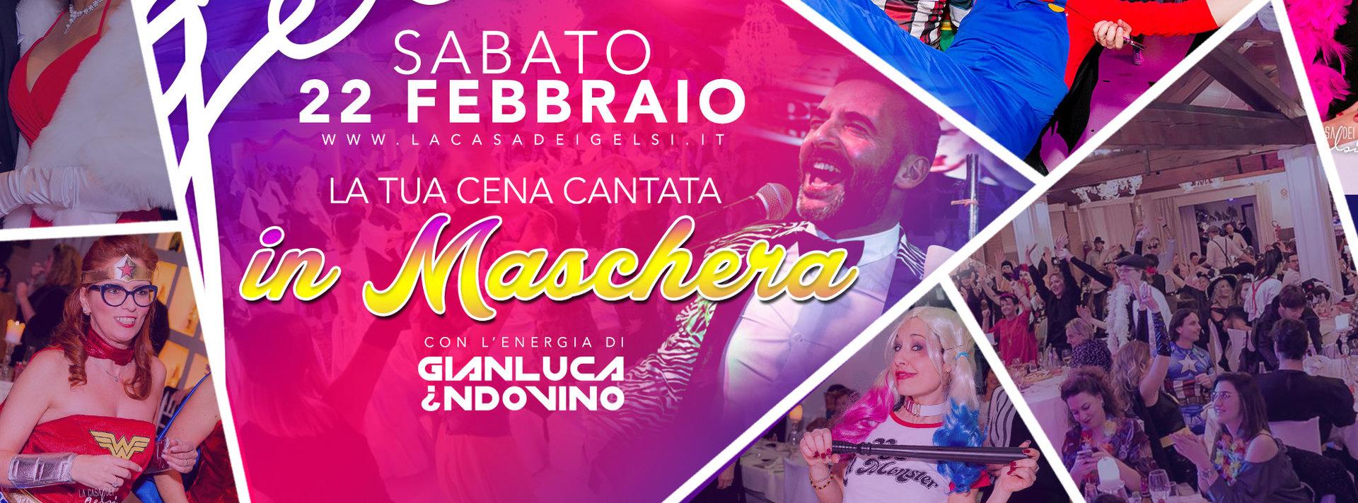 Cena carnevale Gelsi 2020 con Gianluca Indovino