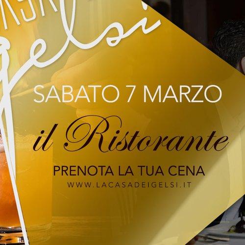 7 marzo - Cena ristorante Gelsi