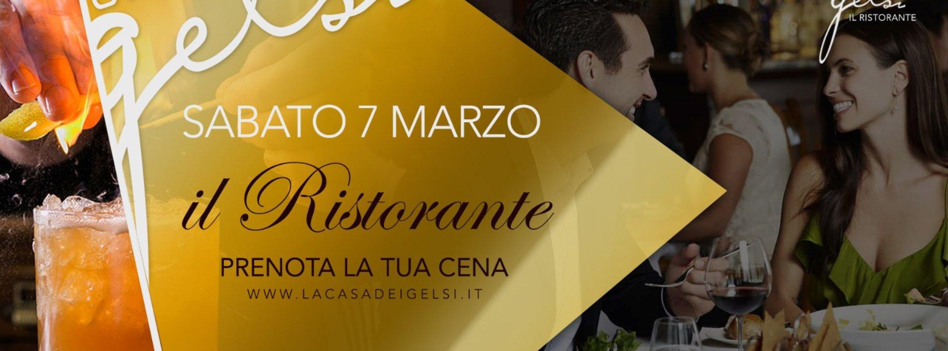 Cena ristorante Gelsi 7 marzo 2020