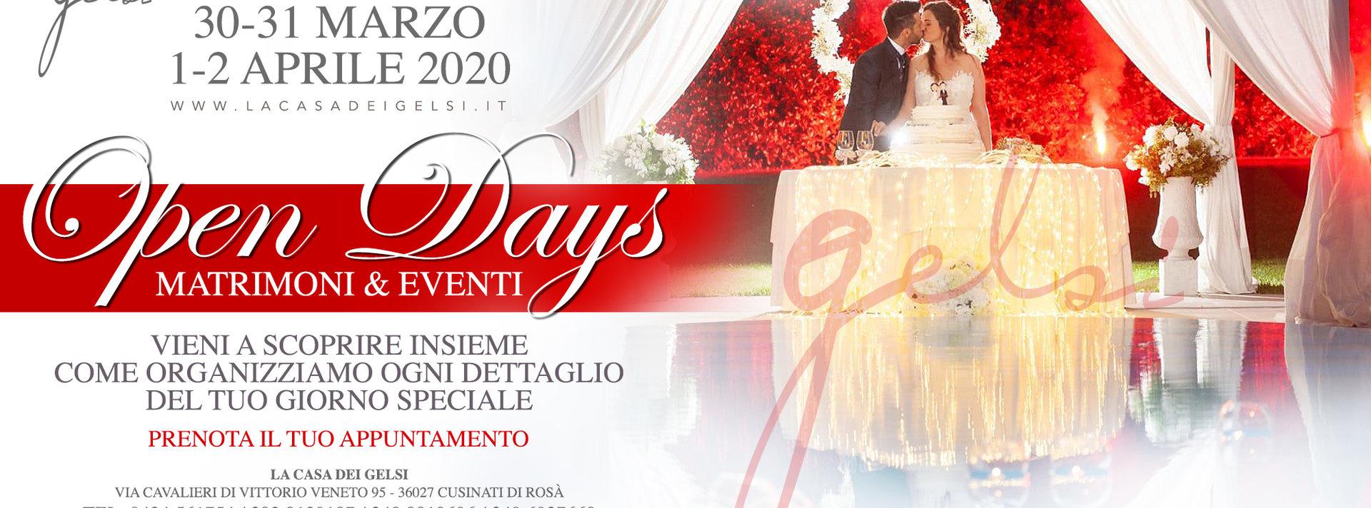 Open day matrimoni 2020 alla Casa dei Gelsi