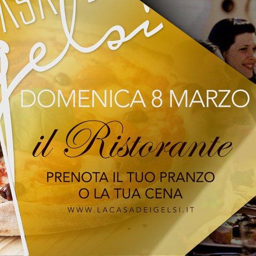 ristorante 8 marzo - festa della donna
