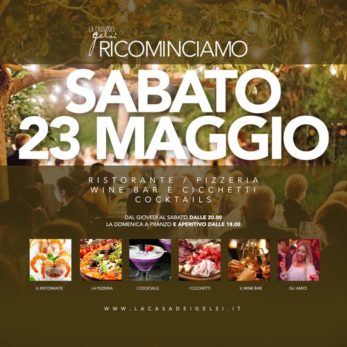 ristorante e pizzeria Gelsi - 23 maggio 2020
