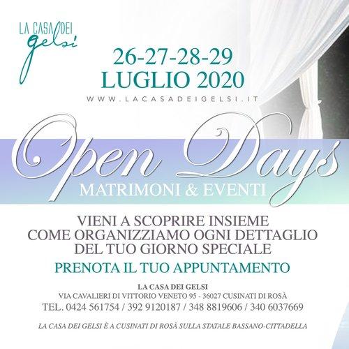 Open day matrimoni e eventi la Casa dei gelsi