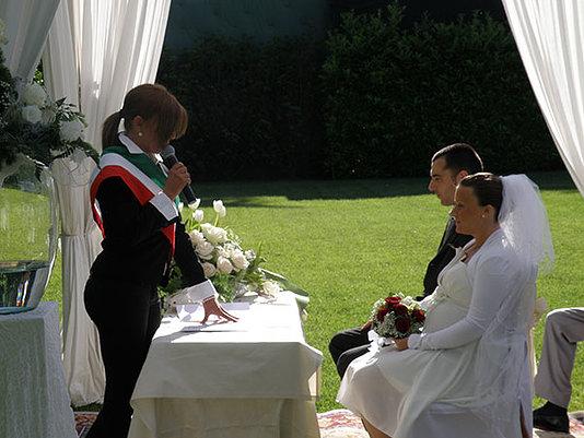 celebrazione matrimonio rito civile gazebo