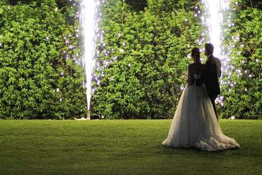 sposi fuochi