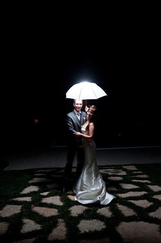 sposi notte ombrello