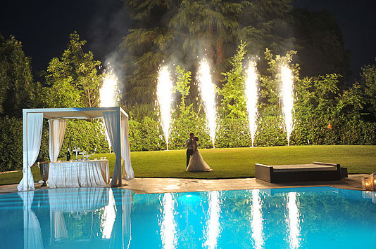 sposi notte piscina